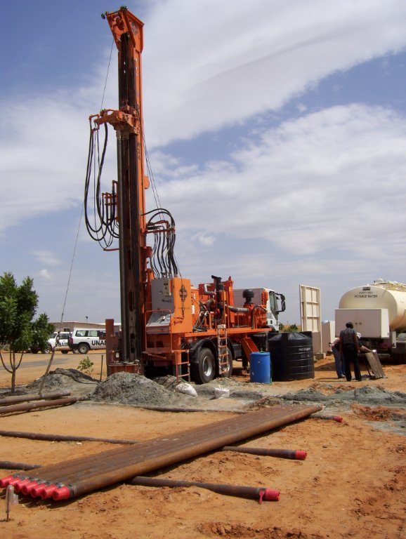 Watertec 24 water well drilling rig dando drilling international un water well drilling project in sudan sciox Choice Image