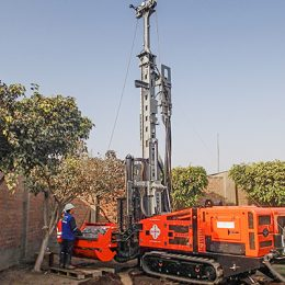 This Multitec 4000 Mk3 is carrying out site investigation and mineral exploration in Peru.
